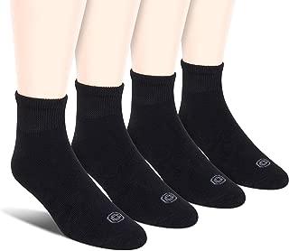 Doctor's Choice Men's Non-Binding Diabetic Circulatory Full Cushion Crew & Quarter 4 Pack Socks, Shoe Size: 6-12.5