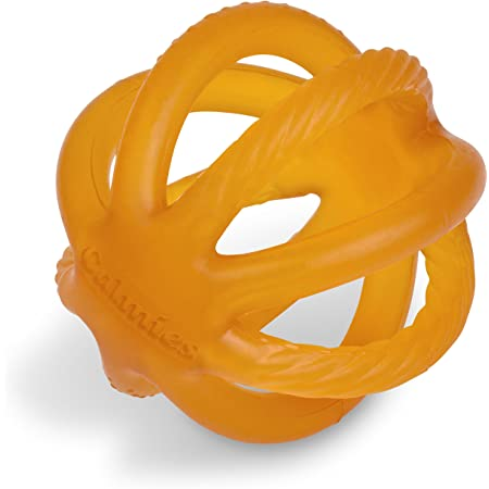 Calmies Teether for Babies Without BPA, Natural 100 Percent Rubber Toy for Infants, Plant Based, No Parabens, PVC or Phthalates, Unscented