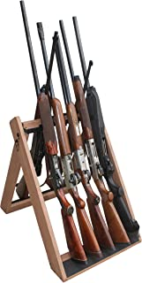 Rush Creek Creations Deer Camp Portable Folding 10 Gun Storage Rack - Handcrafted Weather Proof Material - Easy to Assembly