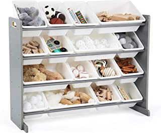 Tot Tutors WO701 Springfield Collection Supersized Wood Toy Storage Organizer, Extra Large, Grey/White (Renewed)