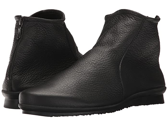 Arche  Baryky (Noir Deer Skin Leather) Womens Zip Boots