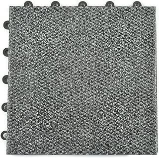 Greatmats Raised Carpet Tile Snap Together Flooring 20 Pack Gray