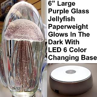 Large Purple Glass Jellyfish Paperweight 6
