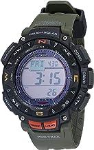ساعة رياضية من كاسيو للرجال مع حزام من الراتنج لون اخضر (PRG-240-3CR)