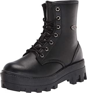 Lugz Women's Dutch Classic 6-inch Chukka Fashion Boot Combat, Black, 8