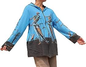 Raan Pah Muang RaanPahMuang Salvadore Dali - Burning Giraffe Long Ladies Hood Jacket