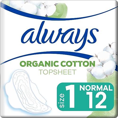 Always Serviette Hygiénique Protection Coton, Le paquet de 12 serviettes