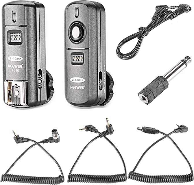 Neewer FC-16 Multi-Canal 2.4GHz 3-IN-1 - Disparador Flash Inalámbrico/ Flash Estudio con Obturador Remoto para D7100 D7000 D5100 D5000 D3200 D3100 D600 D90 D800E D800 D700 D300S D300 D200 D4 D3S D3X D2Xs
