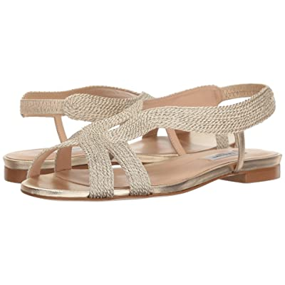 L.K. Bennett Maya (Pale Gold Rope Lurex/Soft Gold Metallic Nappa Leather) Women
