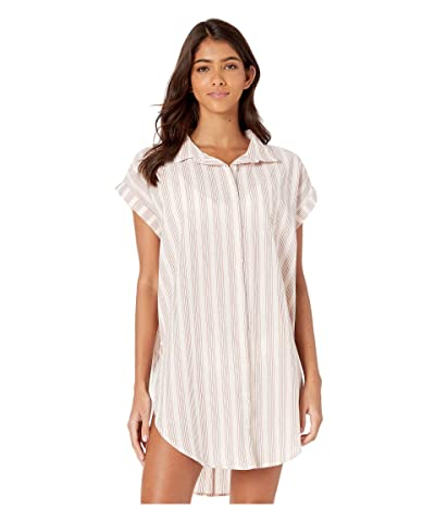 RVCA Sand Dollar Shirt Dress Cover-Up (Creme) Women