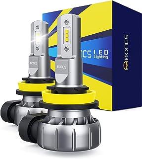 HONCS H11/H8/H16 LED Fog Light Bulbs, 300% Brighter 6500K Cool White LED Fog Light DRL Bulbs Replacement For Cars, Pickup...