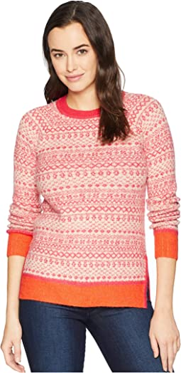Justina Fair Isle Hem Sweater