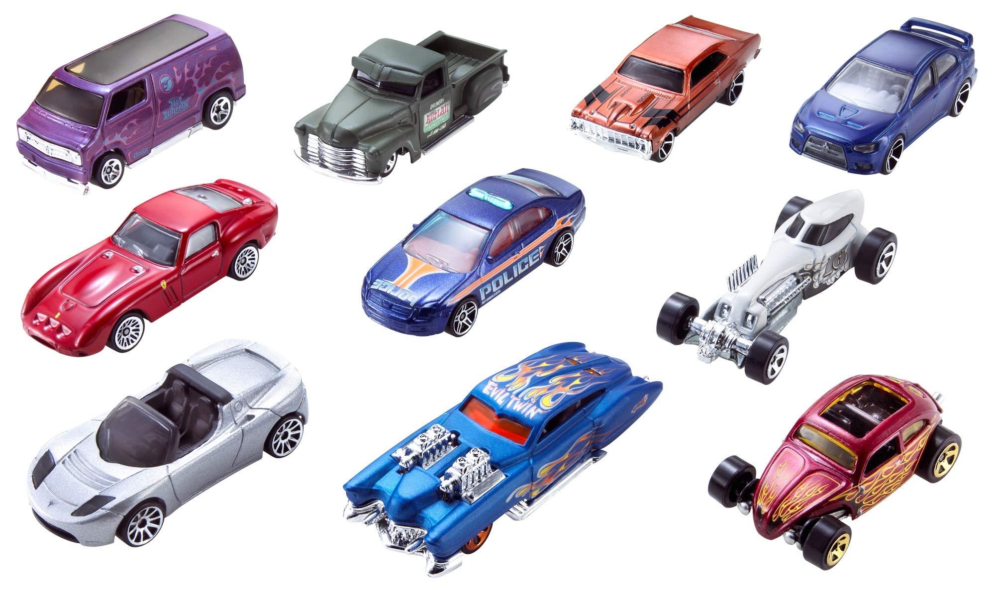 Hot Wheels Pack de 10 vehículos, coches de juguete (modelos surtidos) (Mattel 54886): Amazon.es: Juguetes y juegos