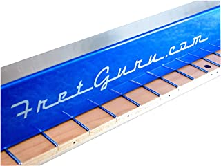 FretGuru Precision Sanding Beam Fret Leveler Leveling File Pro Luthier Guitar Tech Tool includes premium 100, 240, 320 grit peel & stick sandpaper [FINALLY BACK IN STOCK - FRESH BATCH JUST ARRIVED]