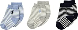 Polo Ralph Lauren - St. James Stripe 3-Pack (Infant)