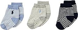 Polo Ralph Lauren - St. James Stripe 3-Pack (Infant)