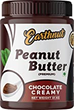 Earthnut Chocolate Peanut Butter Creamy 1Kg (Gluten Free / Non-GMO / Vegan) | Made with Roasted Peanuts, Cocoa Powder & Ch...