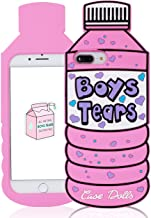 Besoar Case for iPhone 6 Plus/7 Plus/8 Plus Silicone Water Bottle Cover,Cute 3D Cartoon Kawaii Cover,Trendy Hypebeast Desi...