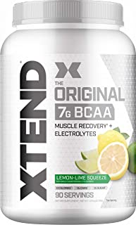 XTEND Original BCAA Powder Lemon Lime Squeeze | Sugar Free Post Workout Muscle Recovery Drink with Amino Acids | 7g BCAAs ...