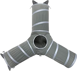 Kitty City Pop Open 3-Way Tunnel, Collapsible Cat Play Toy - Tube Fun for Cat and Kittens