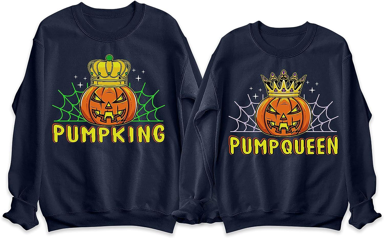 TEEAMORE Pumpking Pumpqueen Halloween Women Product Couple Matching Men Max 67% OFF