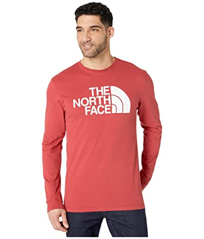 The North Face Long Sleeve Half Dome Tee (Sunbaked Red) Men