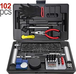 Ayleid 102Pcs Tire Repair Kit -Heavy Duty Flat Tire Puncture Repair Kit, for Car,Motorcycle,ATV,UTV, RV, Trailer, Tractor,...