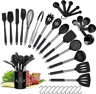 Ustensiles de Cuisine, 36pcs Ustensiles de Cuisine en Silicone, 14 PCS Accessoire Cuisine Anti-Rayur und Anti-adhésif ésis...