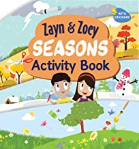 Zayn and Zoey Seasons Activity Book with Stickers - Variety of fun activities for kids - Children's Early Learning Educati...