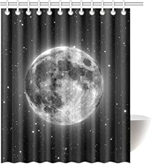 InterestPrint Black Moon Astronomy Space Waterproof Polyester Fabric 60