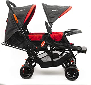 Baby Plus Twin Babies Stroller for Unisex, Red - BP7743
