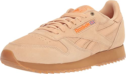 Reebok Hommes's Classic Leather paniers, Cappuccino Pure Orange Gum, 7.5 M US