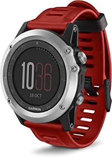 Garmin Fenix 3 GPS Watch Red (Renewed)