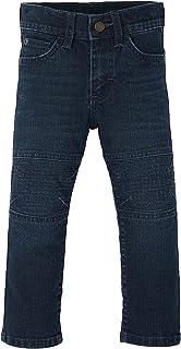 Wrangler Boy's Slim Straight Moto Jeans, 2T