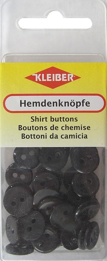 Kleiber - Botones de Camisa, tamaño pequeño, 40 Piezas, Color Negro
