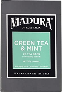 Madura Green and Mint 20 Enveloped Tea Bags, 1 x 30 g