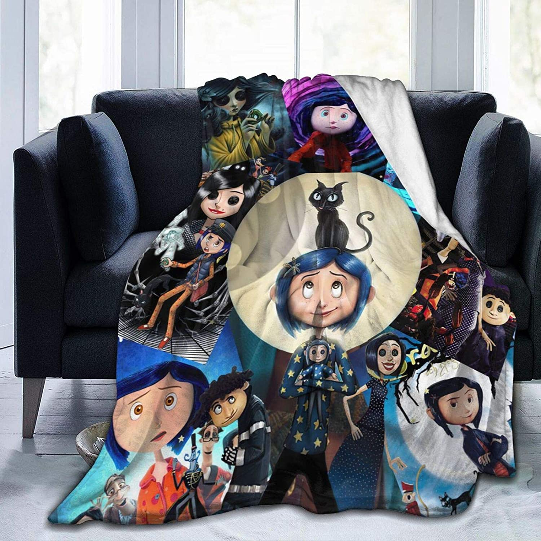 Los Angeles Mall JAPYZEY Coraline Blanket Fees free!! Flannel Fleece Plush All Anime