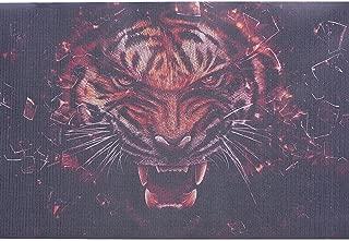 ATMOMO Terror Tigers 3D Transparent Car Back Rear Window Decal Vinyl Sticker for Happy Halloween