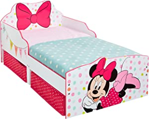 Minnie Mouse Toddler Bed, Wood, white, 56 x 77 x 63 cm
