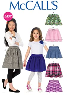 McCall Pattern Company M6984 Children's/Girls' Skirts, Size CCE (3-4-5-6)