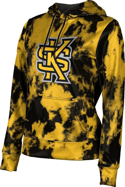 ProSphere Kennesaw State University Girls' Pullover Hoodie, School Spirit Sweatshirt (Grunge)
