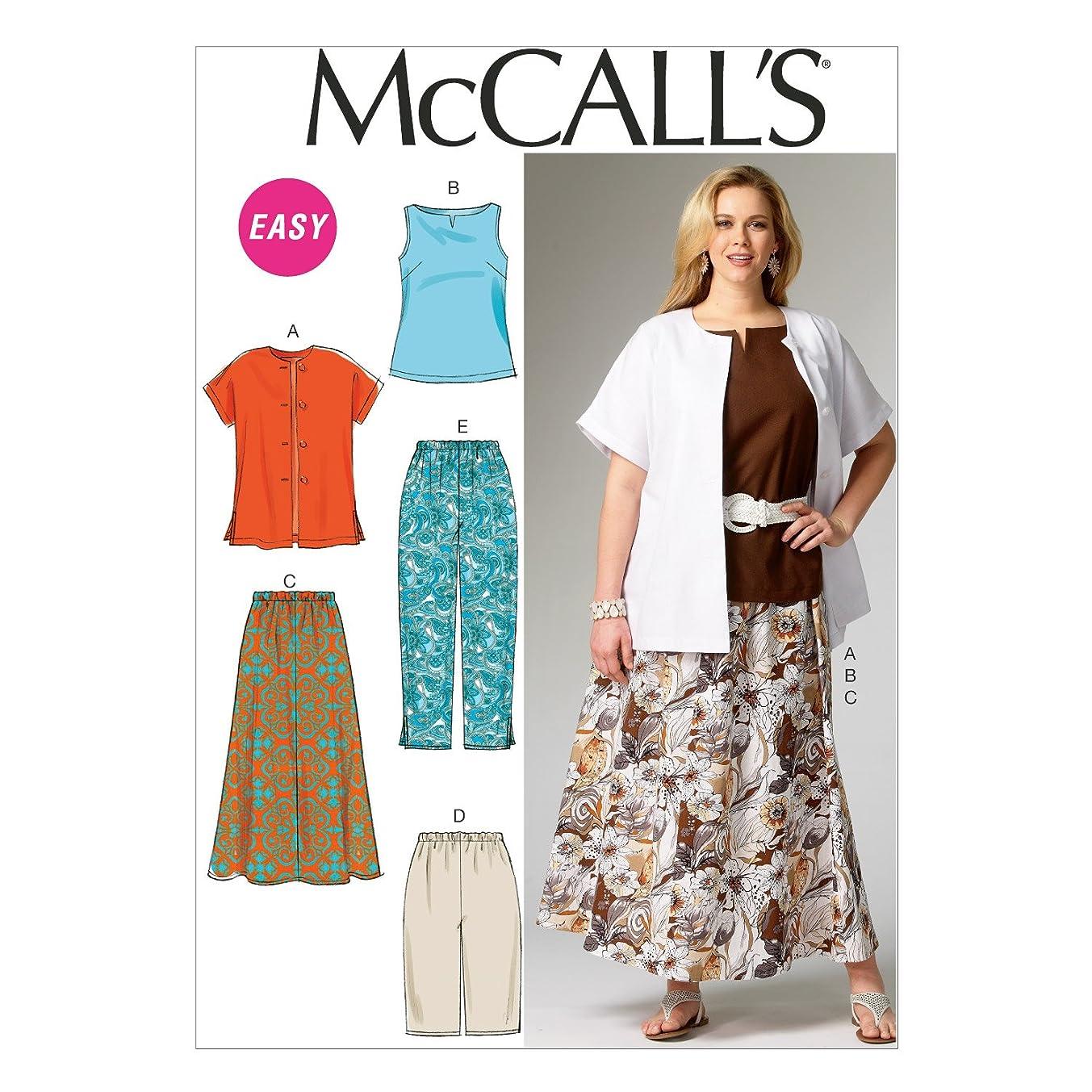 McCall Pattern Company M6970 Women's Shirt, Top, Skirt and Pants, Size KK