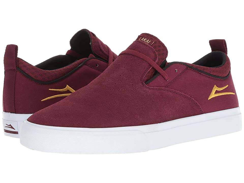 Lakai Riley Hawk 2 (Burgundy Suede) Men