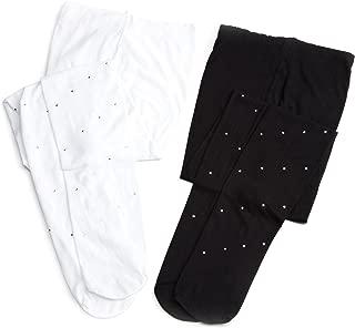 Jefferies Socks Little Girls'  Dress Up Diamond  Tights (Pack of 2)
