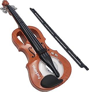 اسباب بازی ویولن - ویولن Premium Kid's Violin برای مبتدیان - ویولن برقی بچه گانه با 7 ترانه - ریتم قابل تنظیم - ساز موسیقی کوچک الکتریکی برای بچه های 7-8 ساله - ویولن با فن آوری بالا با صداهای نمایشی