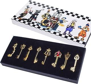 Kingdom Hearts Keyblade, Sora Pendants Keychain Necklace Set