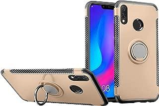 Case for Huawei Honor View 10 Lite JSN-AL00 JSN-AL00a JSN-TL00 JSN-L21 Case Cover + 360 Degree Rotating Ring Holder Kickstand Gold