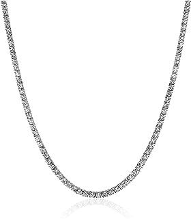 IGI Certified 14K White Gold Diamond Tennis Necklace (7.00 cttw, I-J Color, I1-I2 Clarity), 17