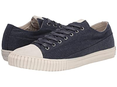 John Varvatos Vulcanized Denim Low Top (Indigo) Men