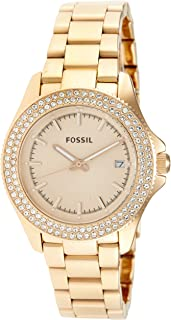 Fossil Women's AM4454 Retro Traveler Rose Stainless Steel Watch